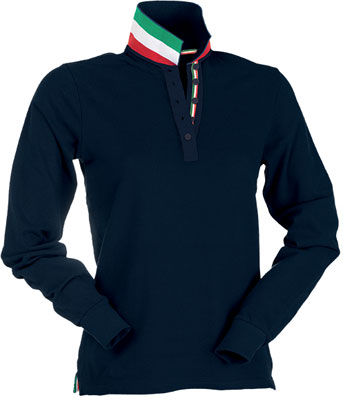 Polo donna manica lunga Payper Long Nation Lady